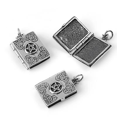 Silver Master Grimoire Locket
