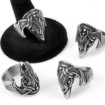 Steel Eagle Ring