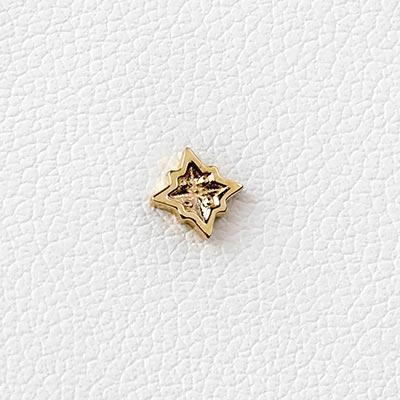 14K Gold Star Trim Threadless Ends