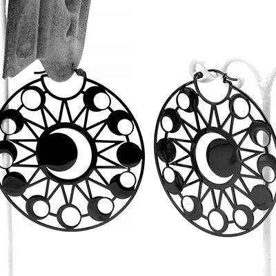 Black Moon Eclipse Earrings