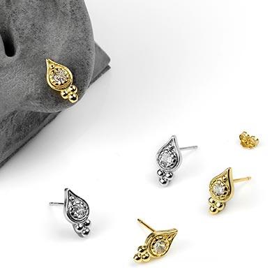 Baroque Gem Stud Earrings
