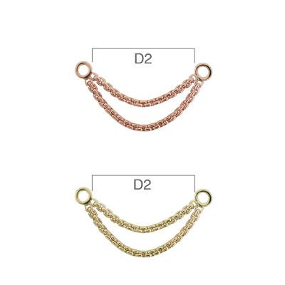 PRE-ORDER 14K Gold Meander VIII Chain