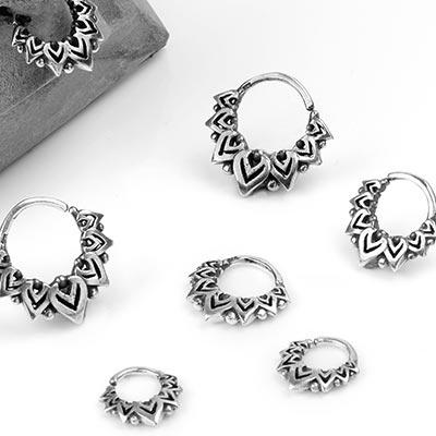 Silver Lotus Petal Seamless Ring