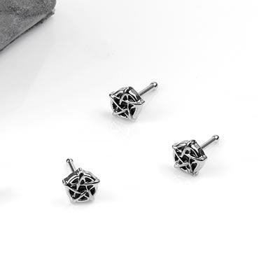 Steel Pentagram Nosebone