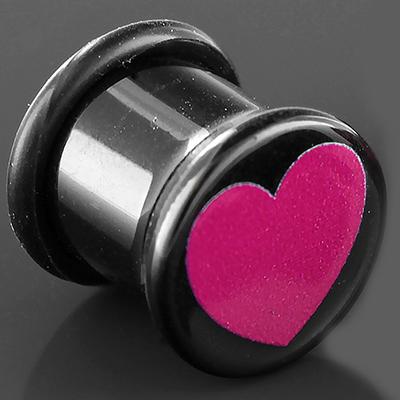 Acrylic Heart Plug