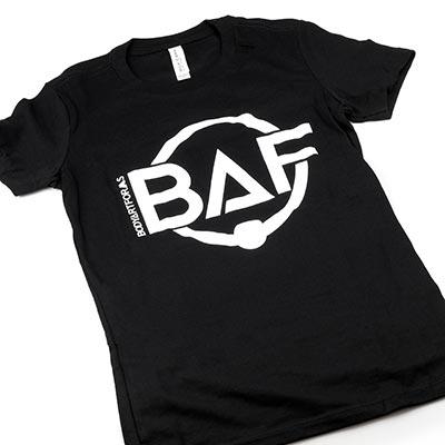 BAF Logo T-Shirt (White On Black)