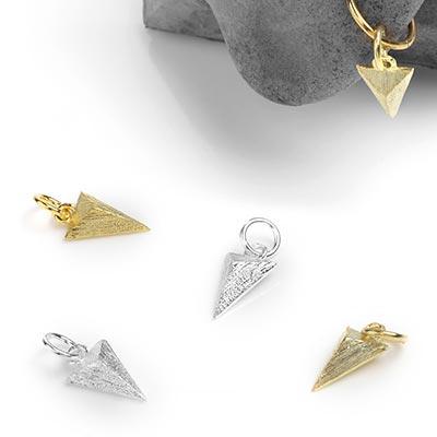 Silver Textured Triad Charm