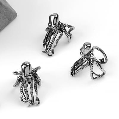 Steel Octopus Ear Cuff