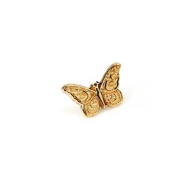 14K Gold Butterfly Internally Threaded End