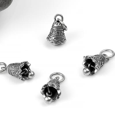 Silver Ohm Bell Charm Pendant