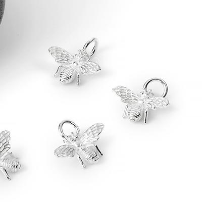 Silver Bee Charm Pendant