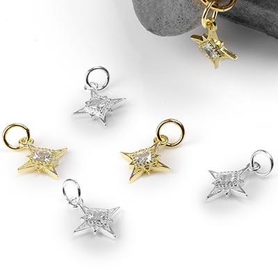 Silver North Star Charm