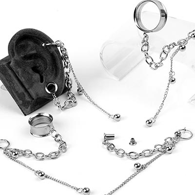Steel Eyelets with Dangle Cuff