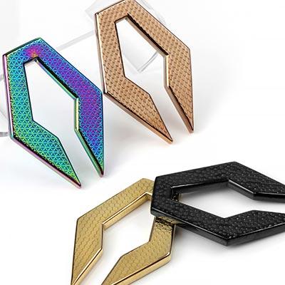 Textured Hexagon Keyhole Weights