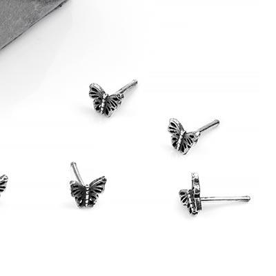 Silver Butterfly Nosebone