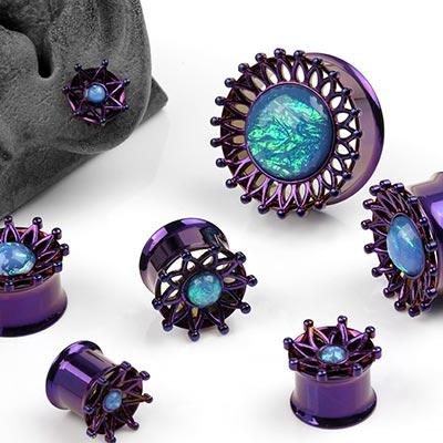 Steel Purple Starburst Plugs