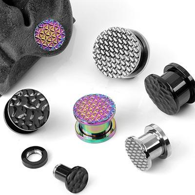 Steel Textured Plugs