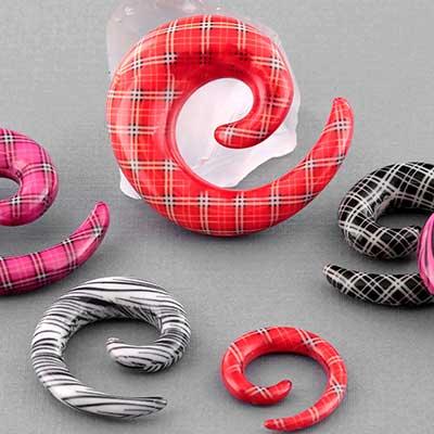 Patterned Print Spiral