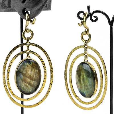 Solid Brass and Labradorite Movement Weights