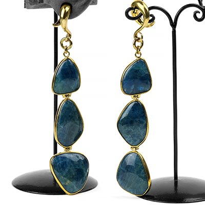 Solid Brass and Free Form Apatite Weights