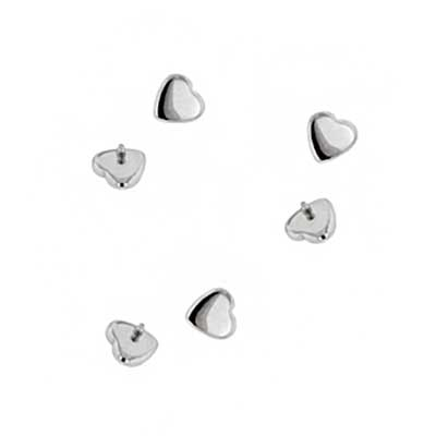 PRE-ORDER Steel threaded heart