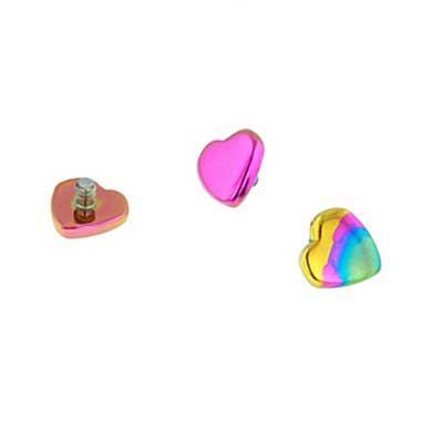 PRE-ORDER Titanium threaded heart