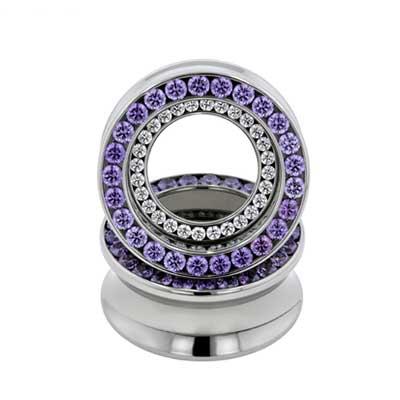 PRE-ORDER Steel Double Orbit Gemmed Eyelet