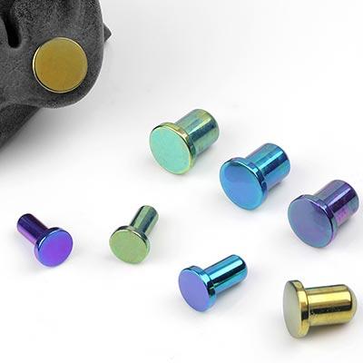 Experimental Color Titanium Single Flare Plug