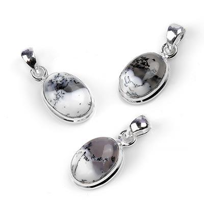 Silver and Dendritic Agate Pendant