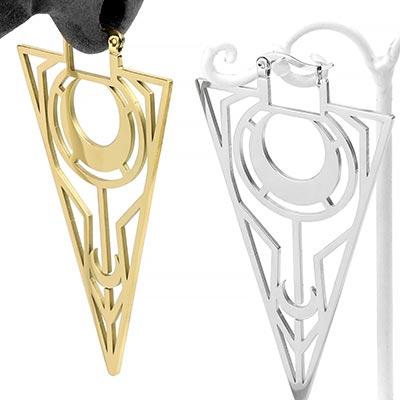 Steel Sacred Moon Earrings