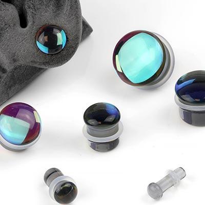 Single Flare Glass Noir Plugs