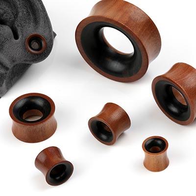 Saba Wood Eyelets with Sono Wood Inlay