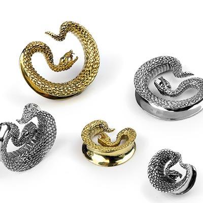 Brass Taksaka Snake Saddles