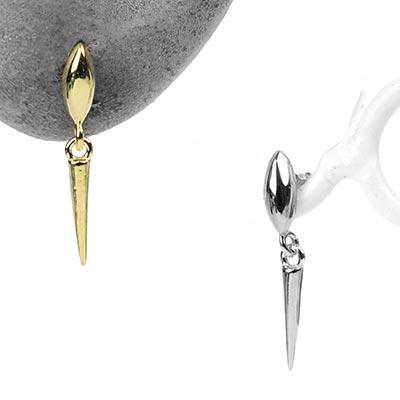 Silver Dangle Spike Stud Earrings