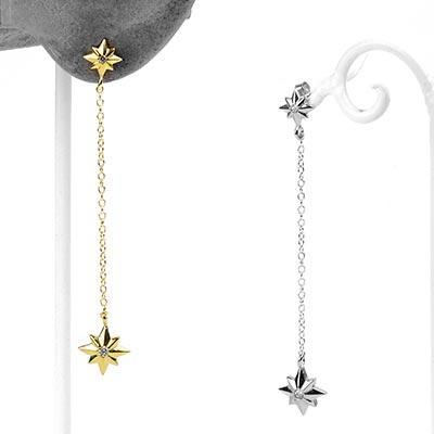 Silver Starfall Dangle Earrings