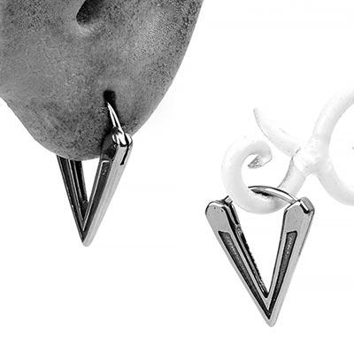 Steel Traid Huggie Earring