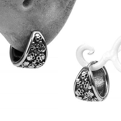 Steel Catacomb Huggie Earring