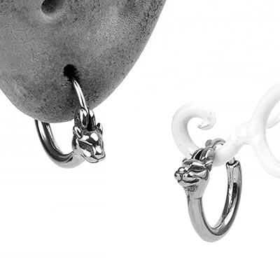 Steel Cougar Huggie Earring