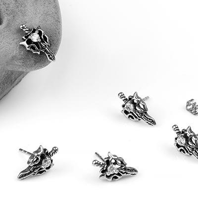 Steel Sword of Chaos Earrings