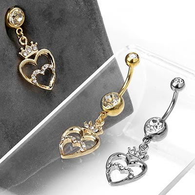 Steel and Crowned Heart Navel
