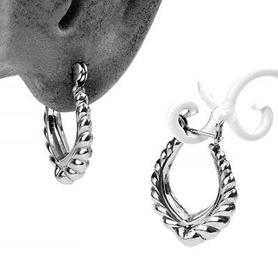 Silver Flora Hoop Earrings