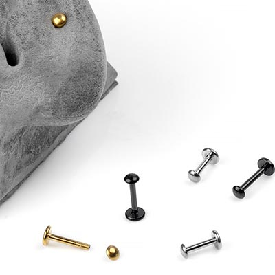 Steel Dome Top Labret