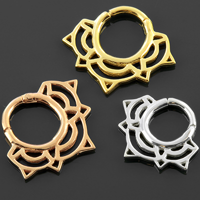 Lace Lotus Septum Clicker