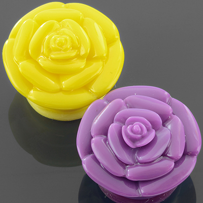 Single Flare Acrylic Rose Plug