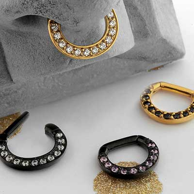 Plated Steel Multi-Jeweled Septum Clicker