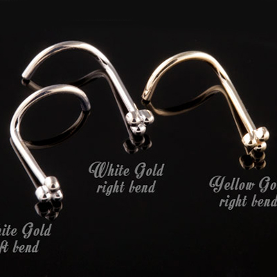 14k Gold 3 Bead Cluster Nosescrew