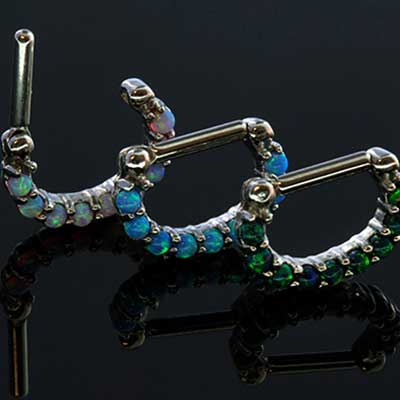 Prong Set Opal Septum Clicker