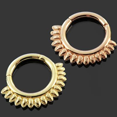 PRE-ORDER 14k gold Athena septum clicker