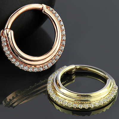 14k Gold Dhara Clicker Ring