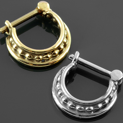 Beaded Three Ring Circus Septum Clicker